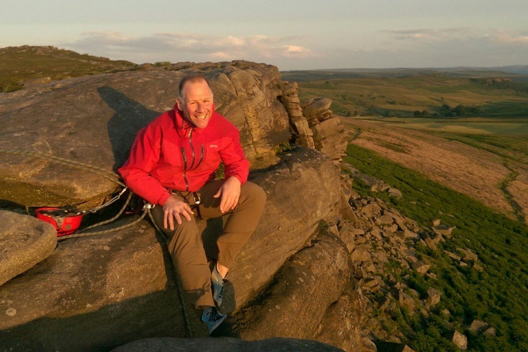 Will Legon on Stanage Edge 2015