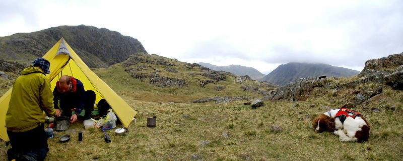 camping and walking gear for a UK camping expedition