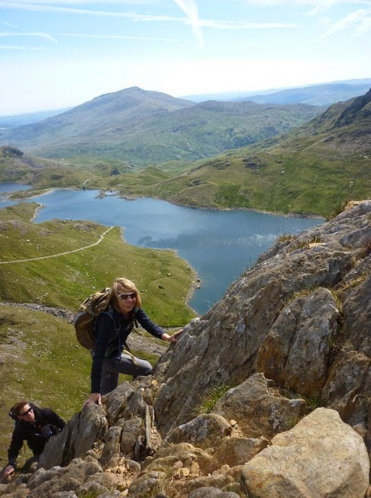 Scrambling on Gribin Ridge Snowdonia