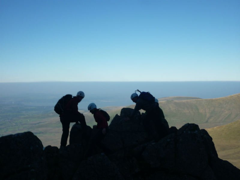 image showing Guided scrambling on the Llech Du Spur Snowdonia