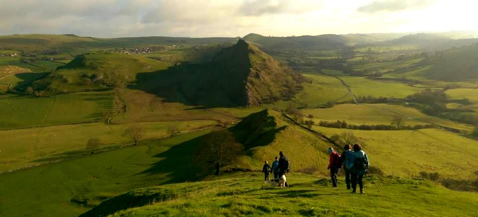 image showing a group of walkers in the Peak District National Park