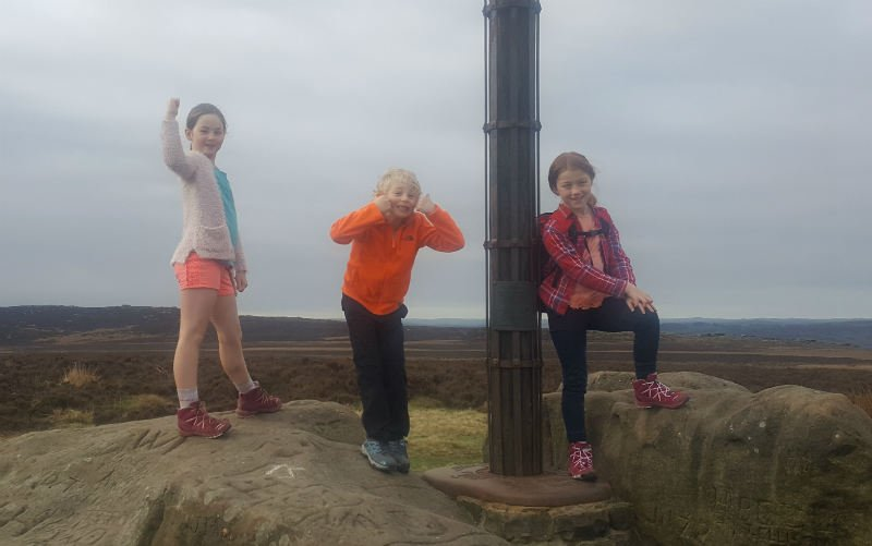 Three kids on Challenge4Charity walking in aid of Action4Diabetics