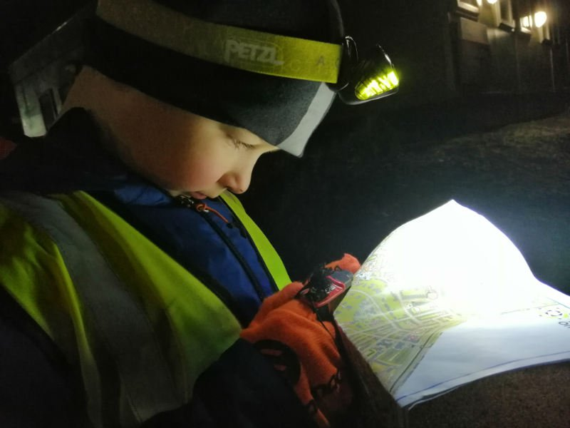 Night orienteering in Sheffield