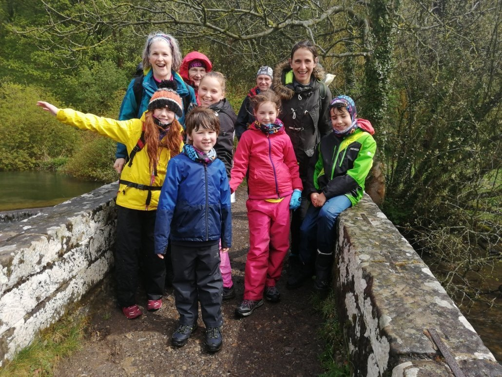 Image of families taking part in the True Grit Challenge 2019
