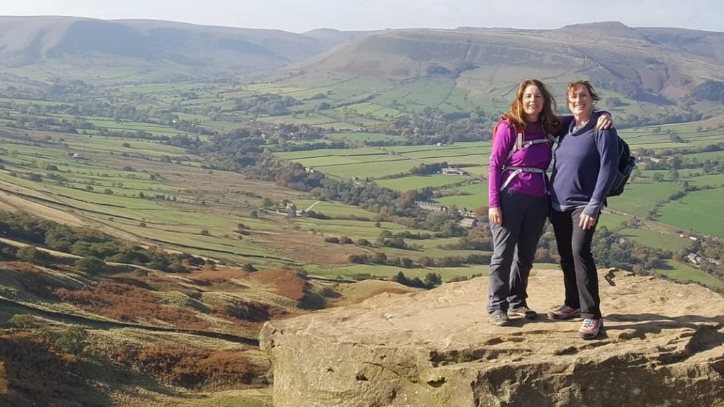 Walking the Great Ridge in the Peak District, on Back Tor