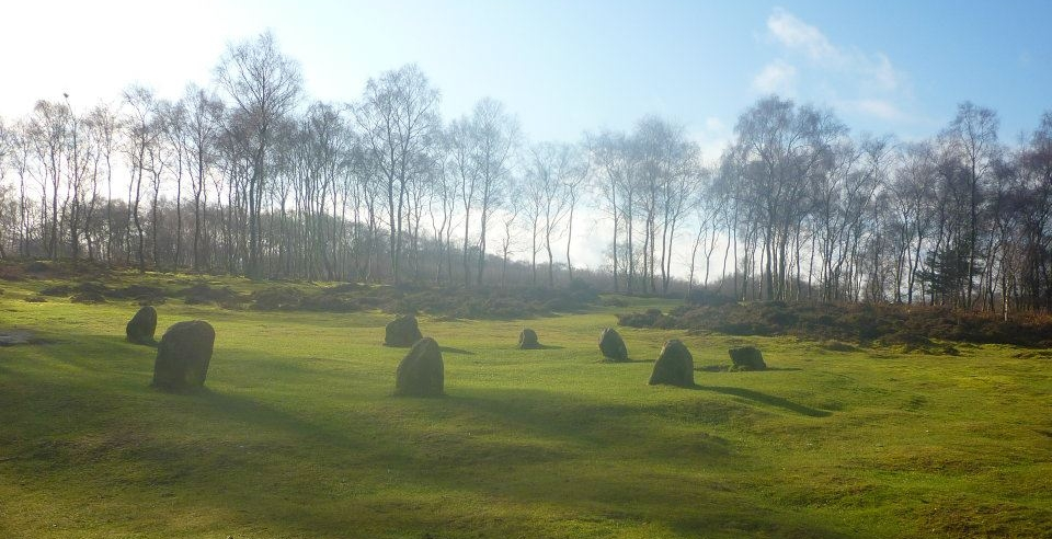 Nine Ladies Stone Circle in the Stanton Moor in the Peak District