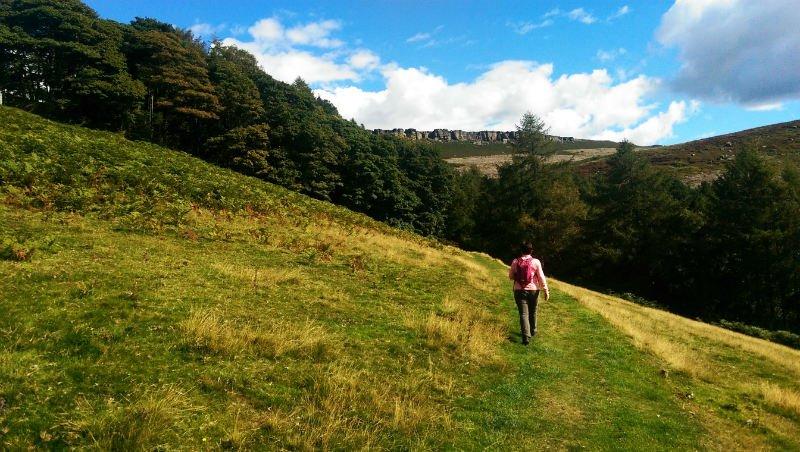 image of walker navigating in the Peak District