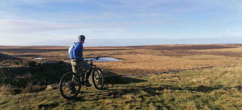 Mountain biking in the Peak District Eastern Moors